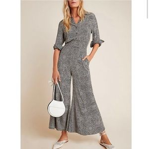 NWT Anthro Wide Leg Patterned Jumpsuit
